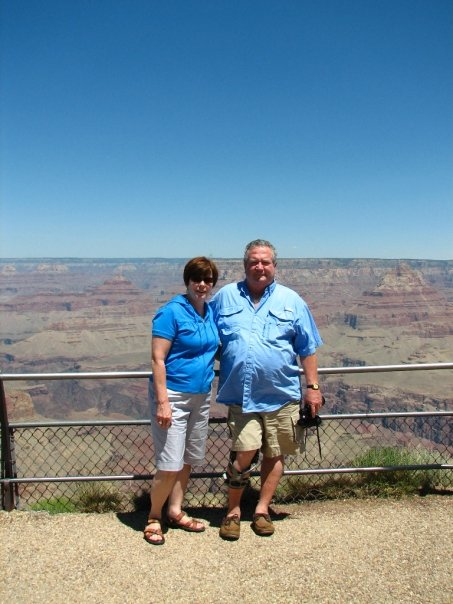 Mama and Daddy at the Grand Canyon