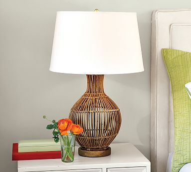 rattan bedside lamp