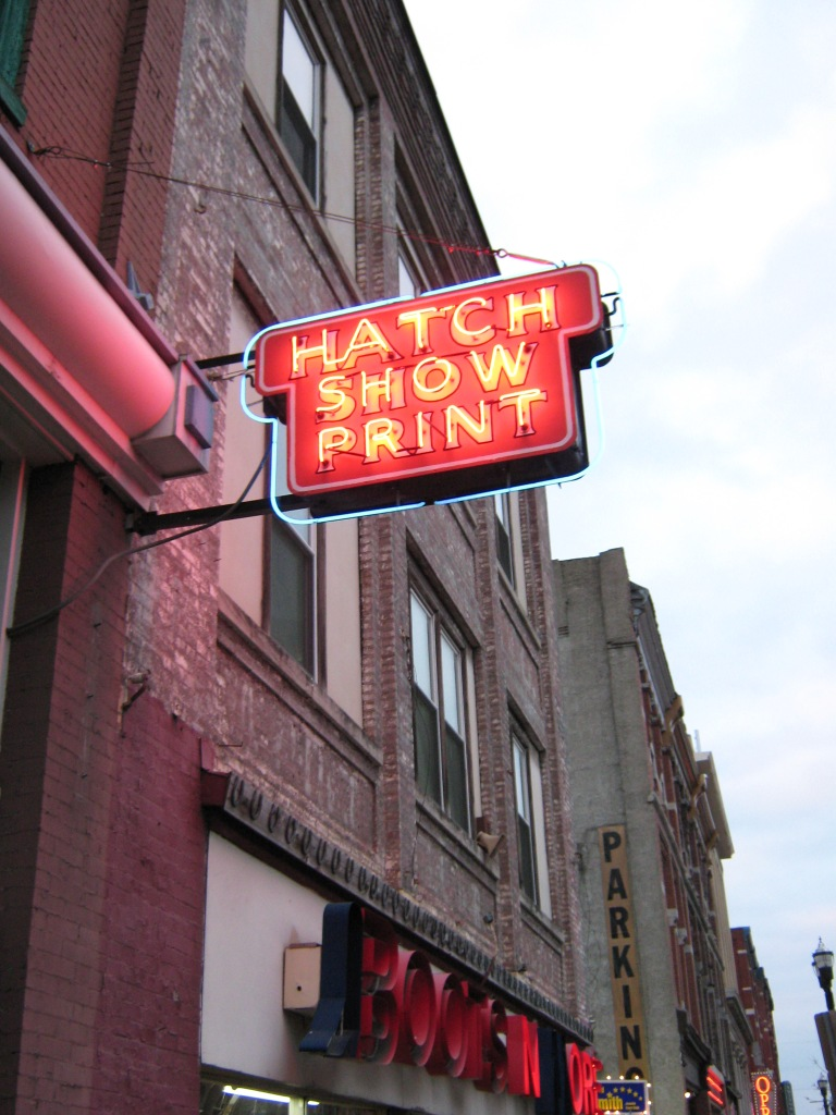 Hatch Show Print Sign